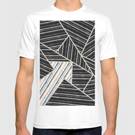 Abstract striped geometric pattern. T-shirt
