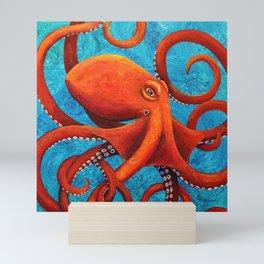 Holding On - Octopus Mini Art Print