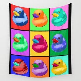Pop Art Ducky Wall Tapestry