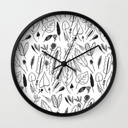 Giant Leaves Pattern Wall Clock