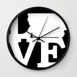 Iowa Pride USA State Love Map Wall Clock