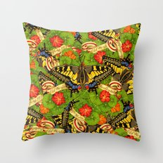 Old World Swallowtail Cacophony Throw Pillow