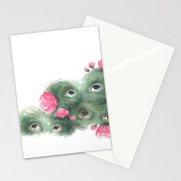 Peeping Peonies 2 Stationery Cards