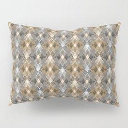 Gray beige geometry. Pillow Sham