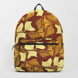 Lemon Shell Pattern Backpack