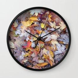 leaf litter menagerie Wall Clock