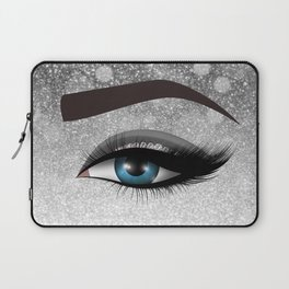 Glam diamond lashes eye #1 Laptop Sleeve