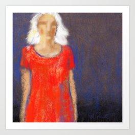 Women in Red # 17 Art Print