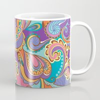 paisley Mugs featuring Paisley by Struthers Studios