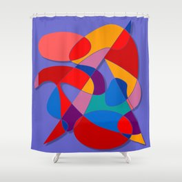 Abstract #66 Shower Curtain