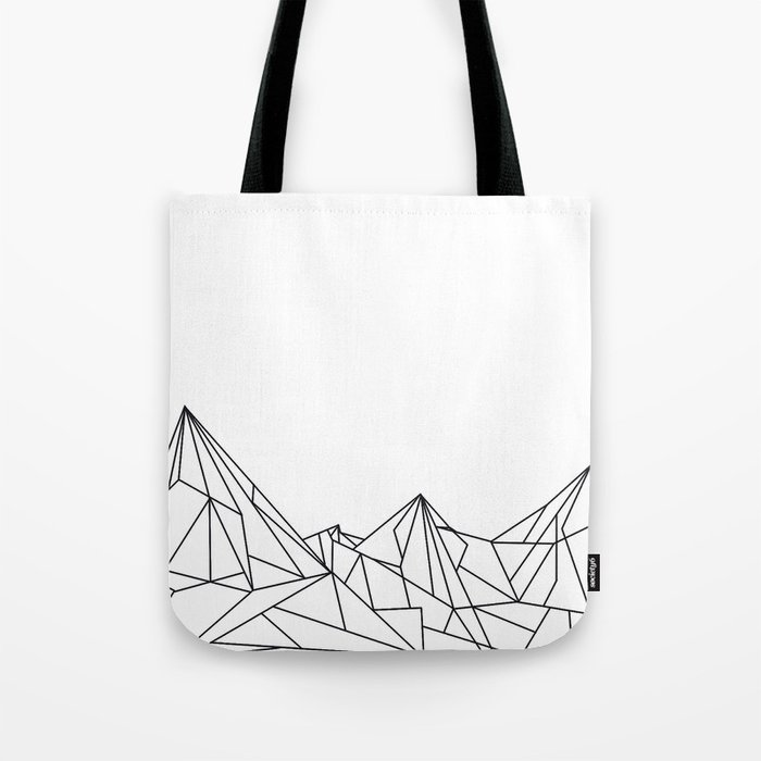 9b0ccd6799a Night Court Mountain Design Tote Bag by floeing