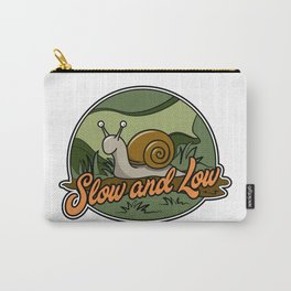 Slow and Low cartoon snail Carry-All Pouch