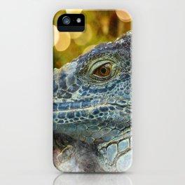 Large Scaly Green Iguana Lizard iPhone Case