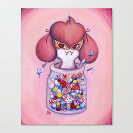 Buffy in a Jar (pink) Canvas Print