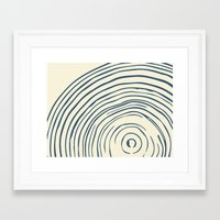 tree rings Framed Art Prints featuring Tree Rings by Chase
