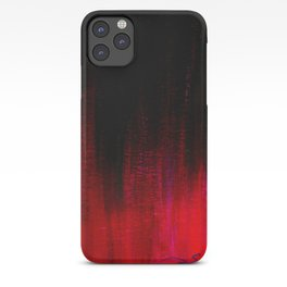 Red and Black Abstract iPhone Case