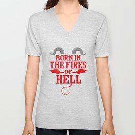 Gothic Devil Hell Satan Metal funny gift Unisex V-Neck