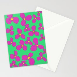 Three-leaf flower pattern lily Stationery Cards
