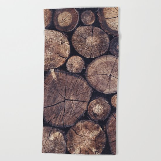 The Wood Holds Many Spirits // You Can Ask Them Now Edit Beach Towel