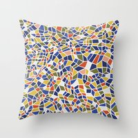 geo Throw Pillows featuring geo by jennifer judd-mcgee