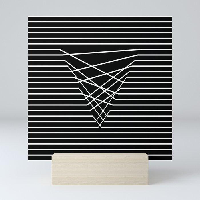 Line Complex Dark Triangle Mini Art Print
