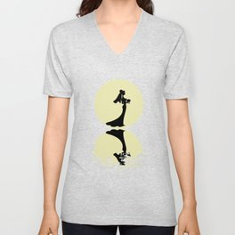 The Bride And The Moon Unisex V-Neck