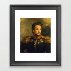 Robert Downey Jr. - replaceface Framed Art Print