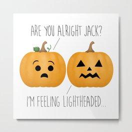 Lightheaded Jack-O-Lantern Metal Print