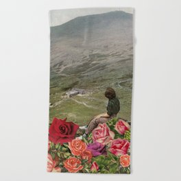 Life is a Bed of Roses Beach Towel