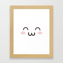 Cute Kawaii Emotion :3 (Check Out The Mugs!) Framed Art Print
