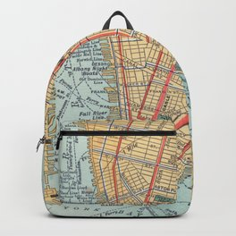 Vintage Map of New York City (1900) Backpack