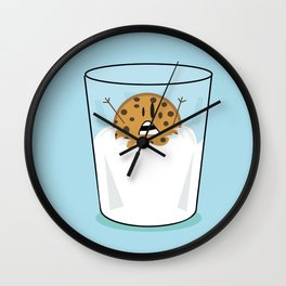 The problems of being a cookie in a milk glass Wall Clock