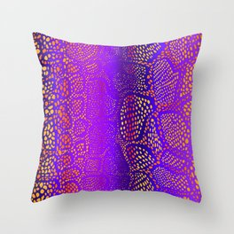 Colorful Snake Skin Throw Pillow