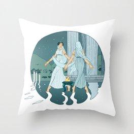 Dance at midnight Throw Pillow