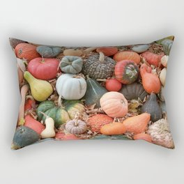 cornucopia (heirloom pumpkins and squashes) Rectangular Pillow