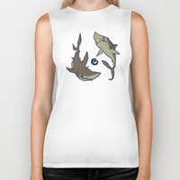sharks Biker Tanks featuring Sharks by Anya McNaughton