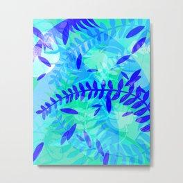 Blue Tropics Metal Print