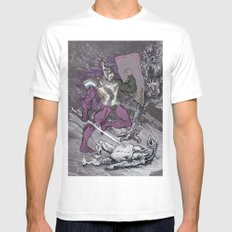 ''Why me?!'',cried the poor monster White MEDIUM Mens Fitted Tee