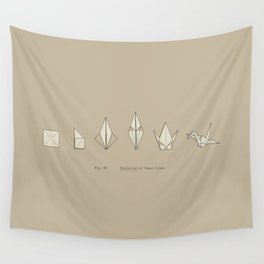 Evolution of Paper Crane Wall Tapestry