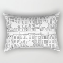 blocks of Brooklyn Rectangular Pillow