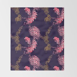 Animals & Pills by Yutaka Sho Throw Blanket