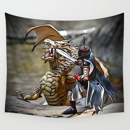 Battling the Dragon Wall Tapestry