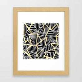 Ab Lines 2 Gold Framed Art Print