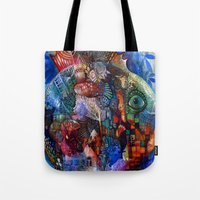 friday Tote Bags featuring Friday by oxana zaika