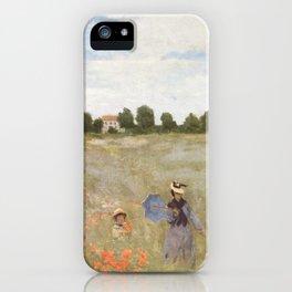 Poppies, Claude Monet, 1873 iPhone Case