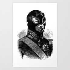 Wrestling mask 2 Art Print