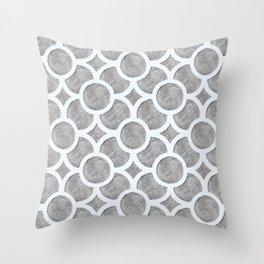 Circular Trellis - Grey Pencil Throw Pillow