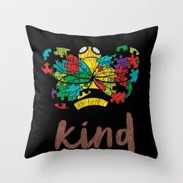 Autism Awareness Bee Kind Autistic Kids Awareness Throw Pillow