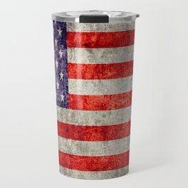 Antique American Flag Travel Mug