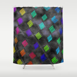 Square Color Shower Curtain